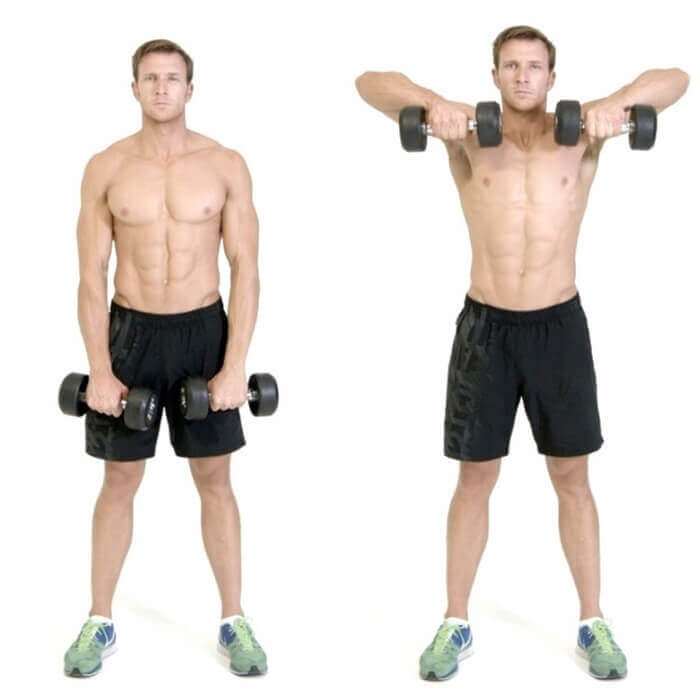 Dumbbell Upright Front Rows