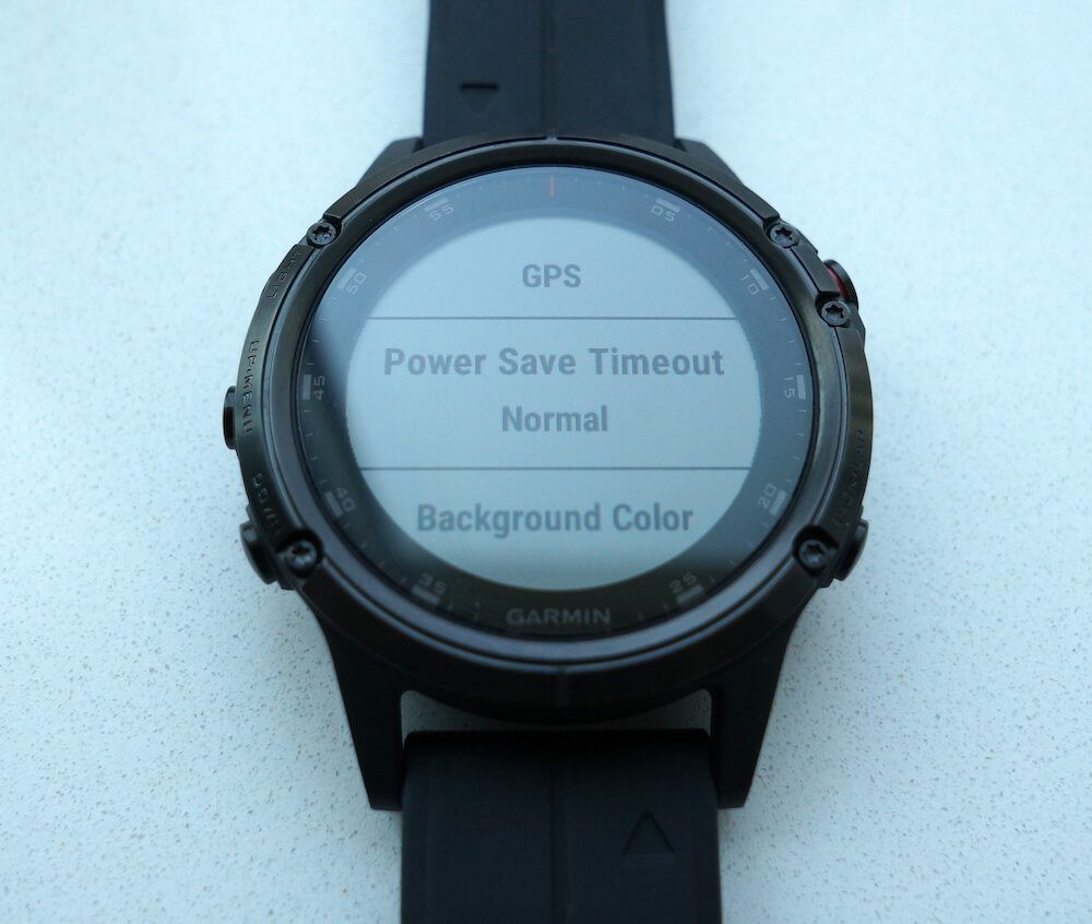 Garmin Fenix 5 power saving mode