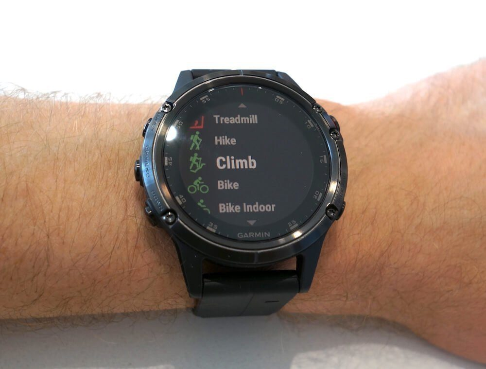 Garmin Fenix 5 training modes