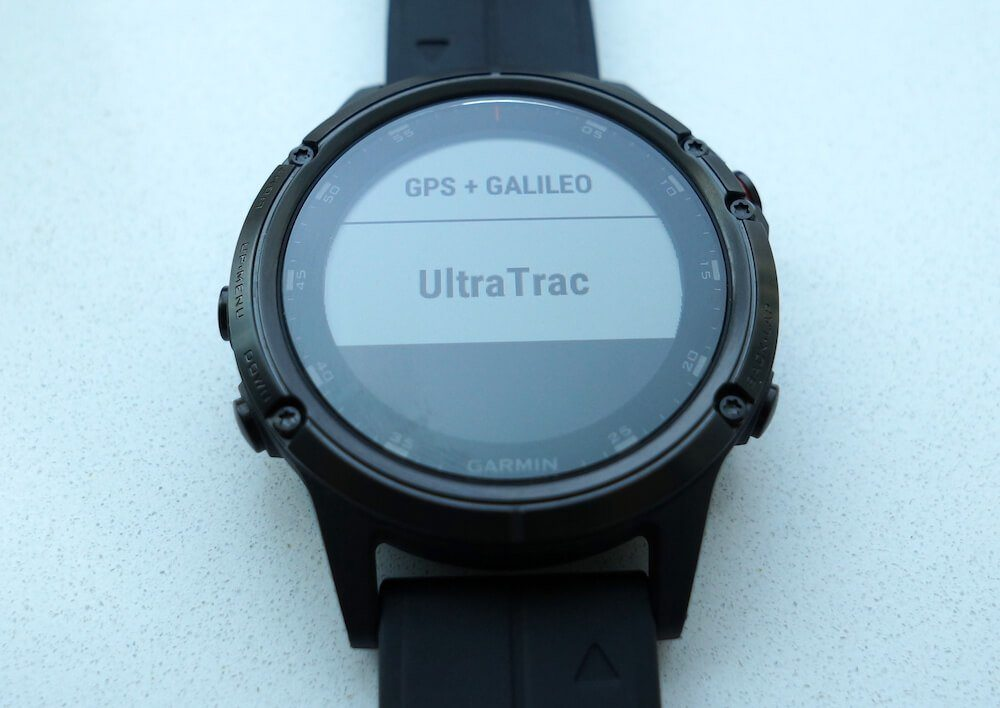 Garmin UltraTrac mode