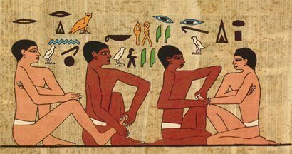 egyptians liked massage