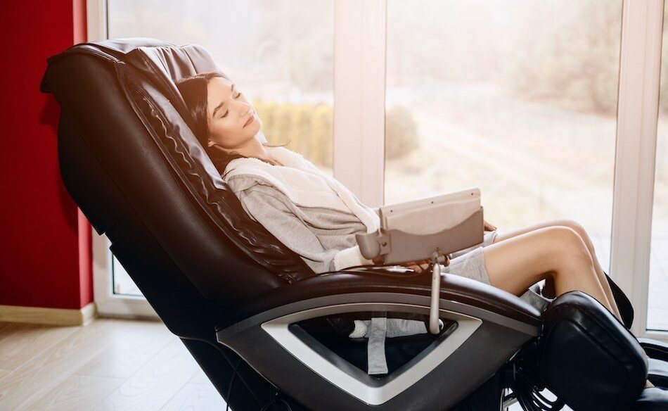 full body massage in a massage chair
