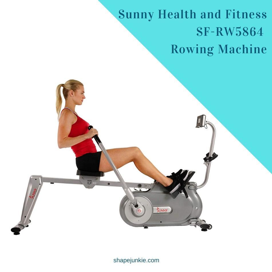Sunny Health and Fitness SF-RW5864 Full Motion Magnetic Rowing Machine