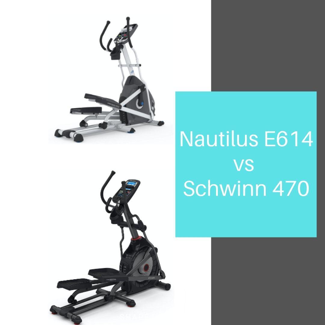 Nautilus E614 vs Schwinn 470 - comparison of the elliptical machines