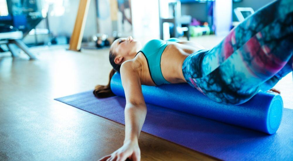 foam roller muscle stretch