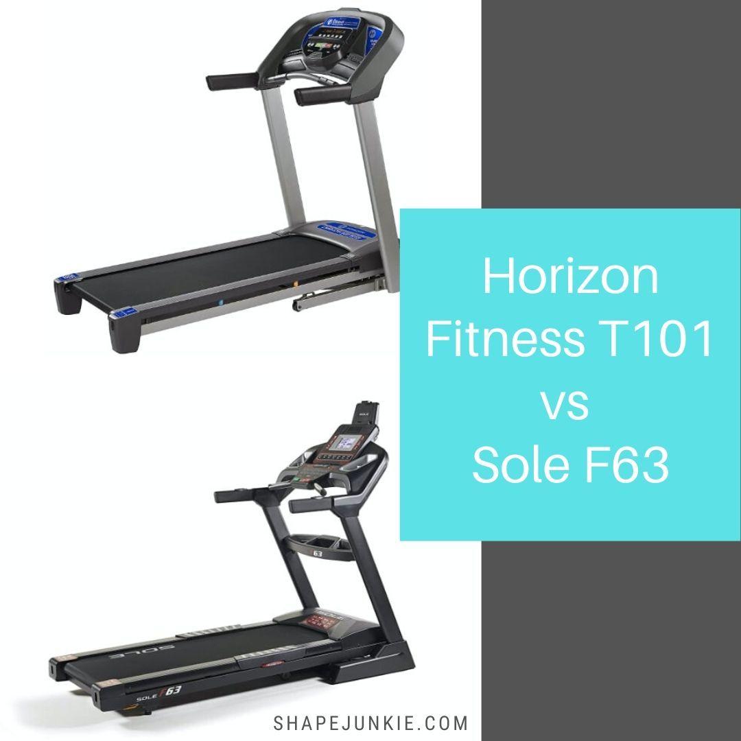 Horizon Fitness T101 vs. Sole F63 Treadmills