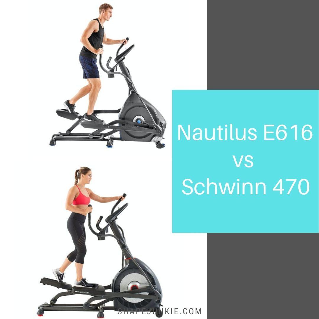 Nautilus E616 vs Schwinn 470 comparison