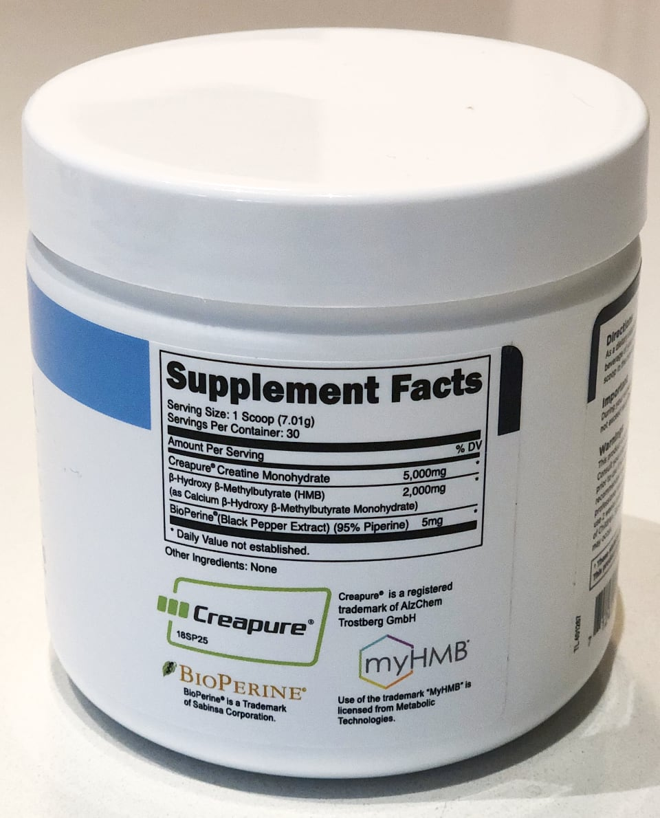 Transparent Labs Creatine HBM ingridient profile