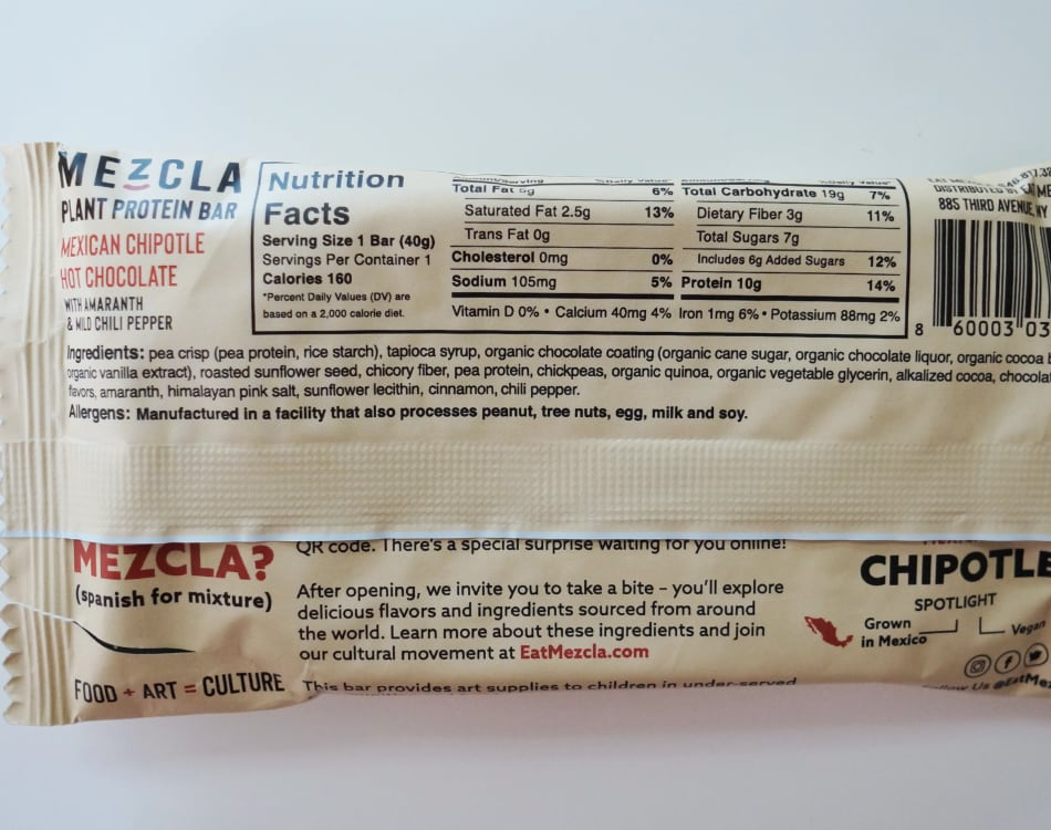 Mezcla Mexican Chipotle Hot Chocolate nutrition facts