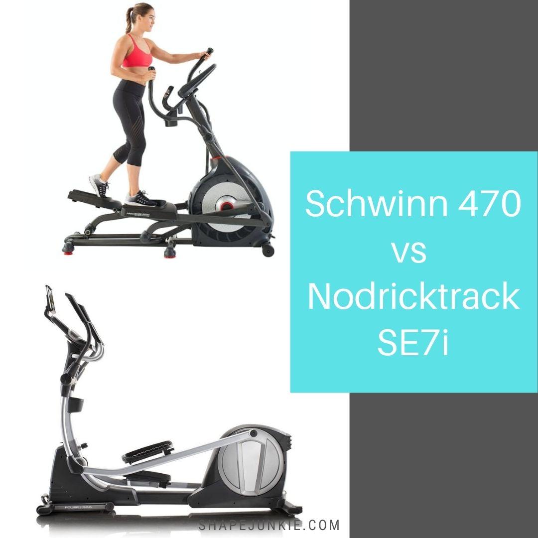 Schwinn 470 vs Nodricktrack SE7i elliptical trainers comparison