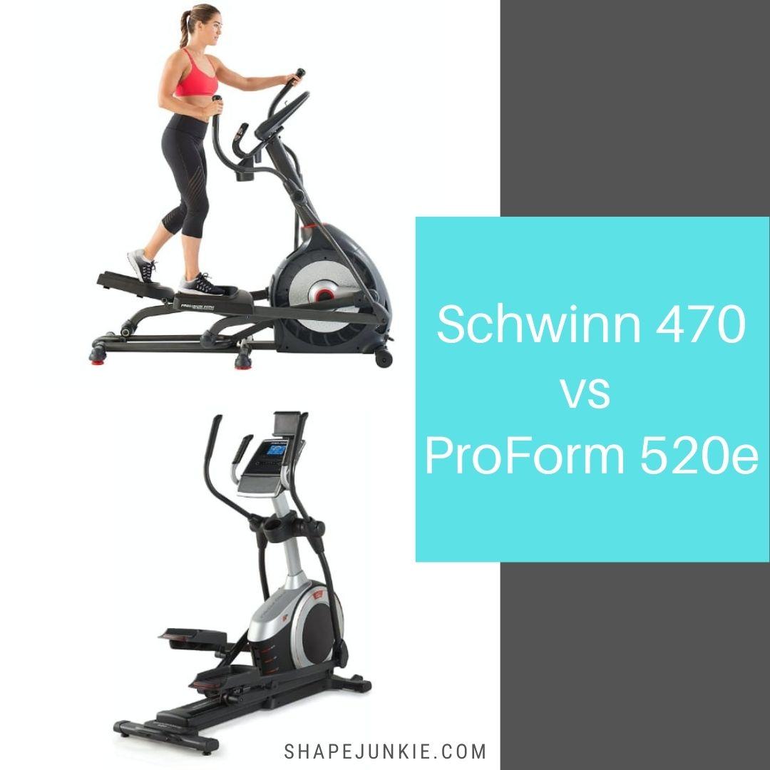 Schwinn 470 vs ProForm Carbon El 520e elliptical comparison
