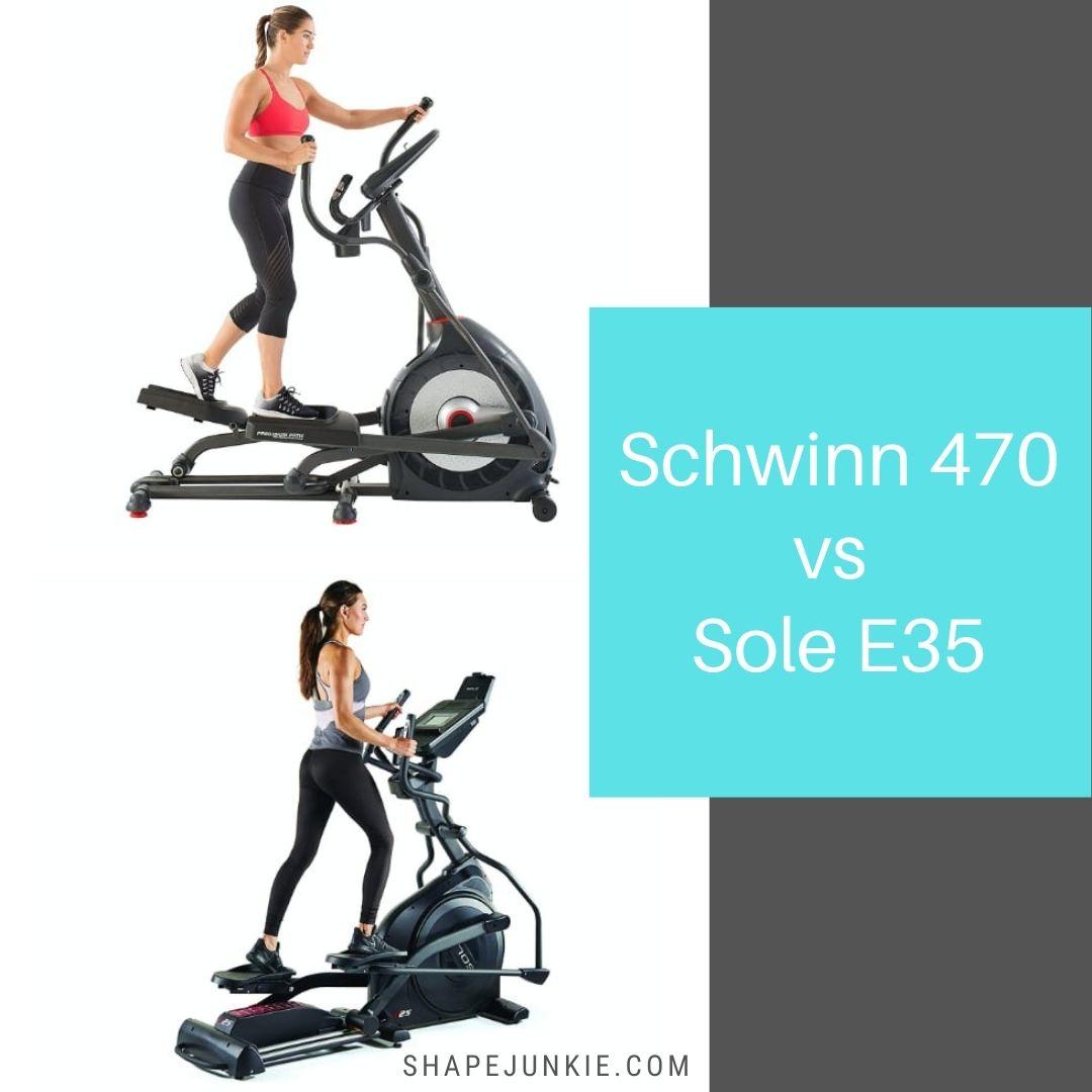Schwinn 470 vs Sole E35 elliptical comparison