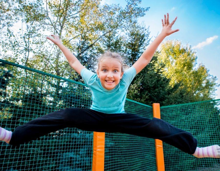 jumping jacks on trampoline